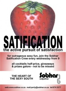 Satification party print flyer