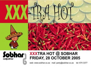 XXX-Tra Hot party print flyer