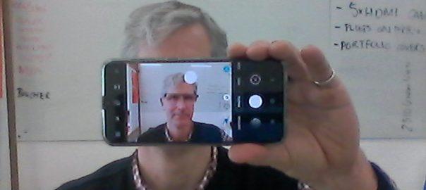 Webcam selfie selfie