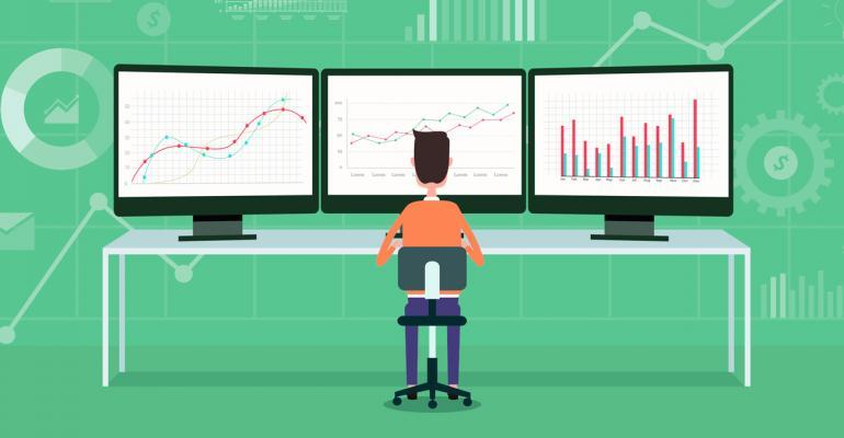Power user at monitors