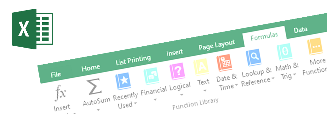 Microsoft Excel functions banner